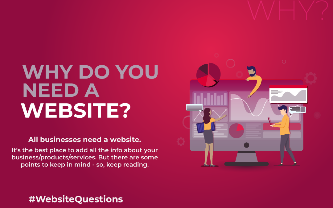 Blog image for the blog called: Why do you need a website. In this blog we discuss the need for a site as a business